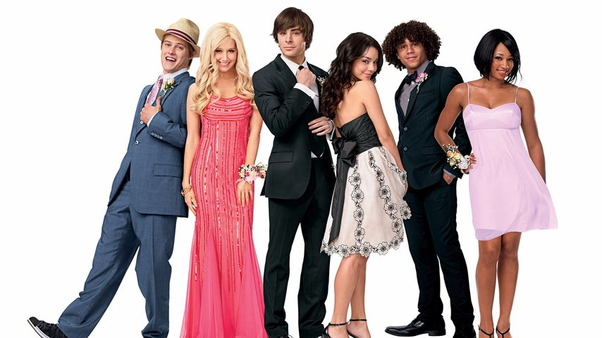 Lucas Grabeel, Ashley Tisdale, Zac Efron, Vanessa Hudgens, Corbin Bleu & Monique Coleman