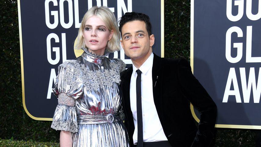 Lucy Boynton und Rami Malek bei den Golden Globes 2020