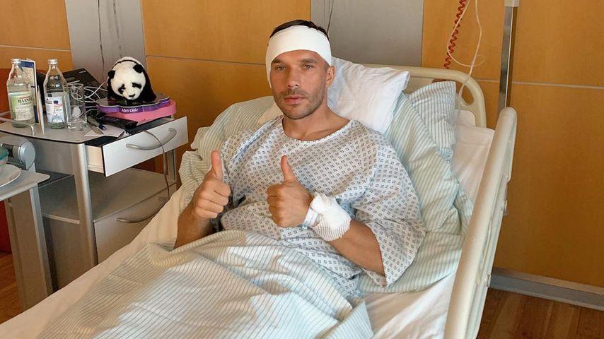 Trommelfell kaputt! Darum musste Poldi operiert werden