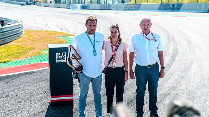 Lukas Lauda, Birgit Laude und Dr. Helmut Marko bei der Einweihung der Niki-Lauda-Kurve