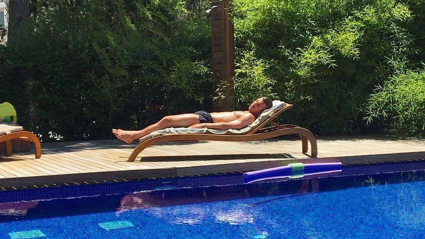 Lukas Podolski im Urlaub