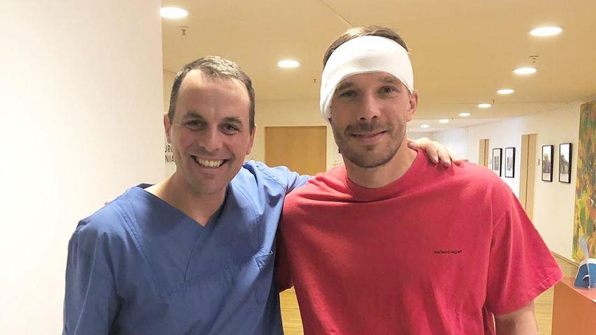 Nach OP: Lukas Podolski ist auf dem Weg der Besserung!