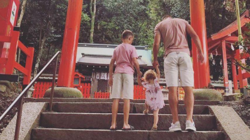 Poldi mit Sohn Louis und Tochter Maya