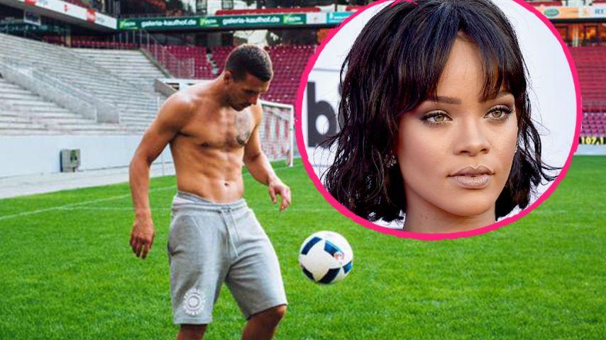 "Starkes Sixpack! So heiß leiht Poldi Rihanna ""sein"" Köln aus"