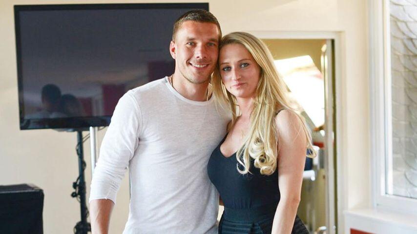 Lukas Podolski und seine Ehefrau Monika im Jahr 2019