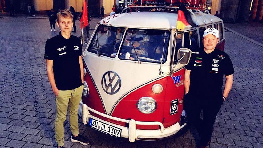 Luke und Joey Kelly mit ihrem VW-Bus