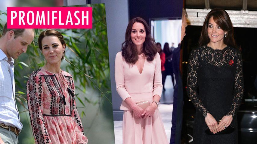 Luxus-Kate und ihre Kleider