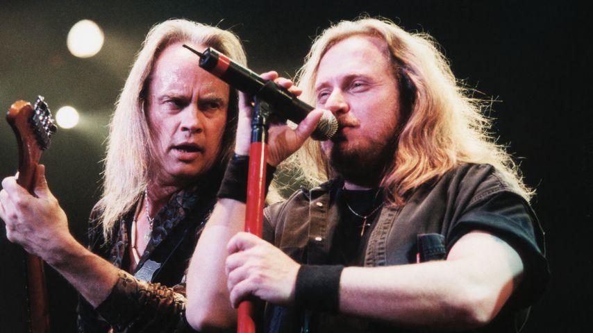 Lynyrd-Skynyrd-Girarrist Rickey Medlocke und Sänger Johnny Van Zant in Las Vegas