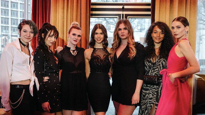 Malin, Julia F., Lucy, Marie, Johanna, Cassandra und Vivian von GNTM 2020