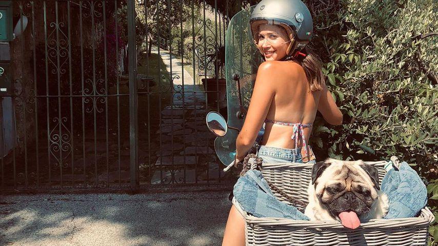 Mandy Capristo mit ihrem Hund Capone
