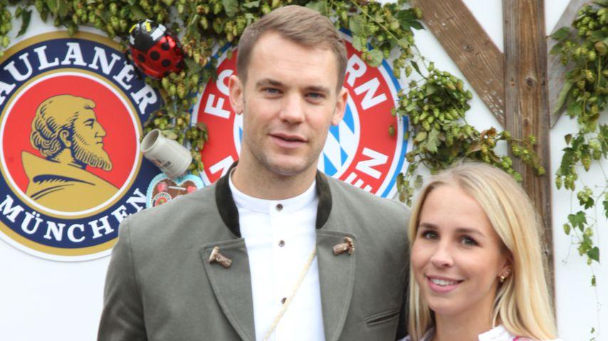 Manuel Neuer und seine Frau Nina auf dem Oktoberfest in München