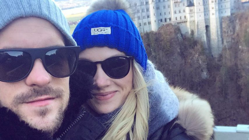 1. Pärchen-Selfie: Anna Hofbauer & Marc Barthel super-happy!