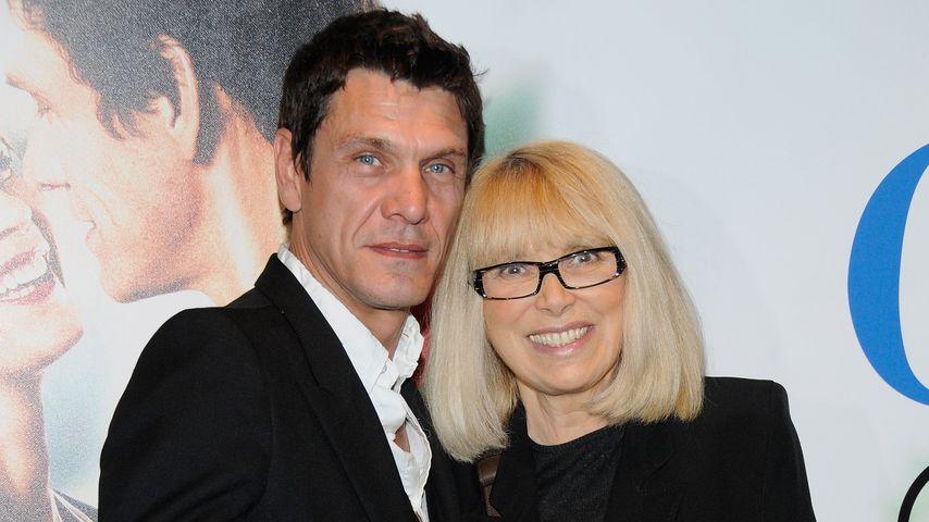 Marc Lavoine und Mireille Darc bei einer Filmpremiere