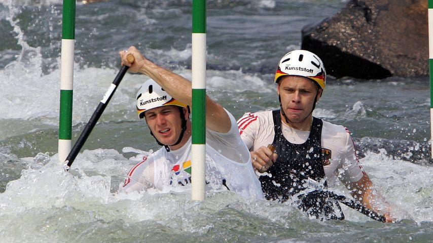 Marcus Becker und Stefan Henze bei den Slalom-Weltmeisterschaft im Kanu