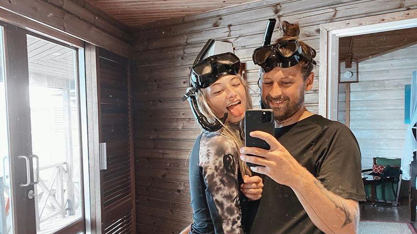 Mareike Lerch mit ihrem Verlobten Philipp