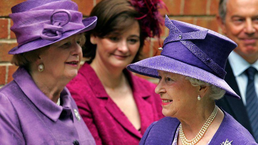 Margaret Thatcher und Queen Elizabeth II. im Juni 2007 in Berkshire