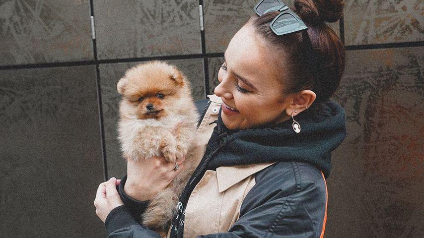 Margarita Nigmatullin mit ihrem neuen Hund