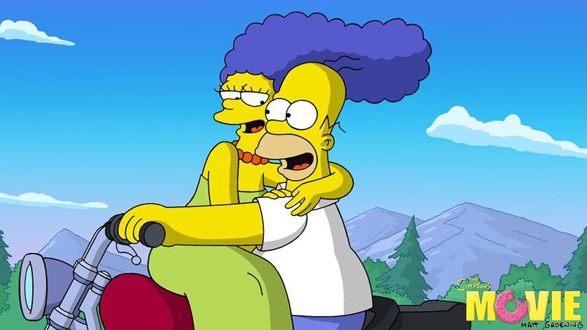 "Marge und Homer in dem ""The Simpsons""-Film 2007"
