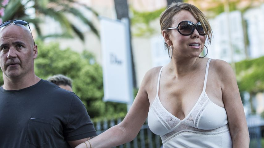 Nippel-Alarm! Mariah Careys BH hat in Südfrankreich Urlaub