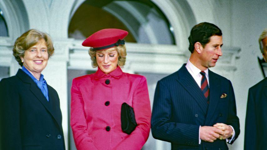 Marianne von Weizsäcker, Prinzessin Diana und Prinz Charles in Bonn, 1987