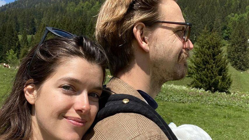 Marie Nasemann mit ihrer Familie im Mai 2021