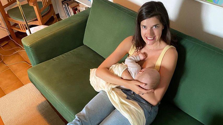 Marie Nasemann und ihr Sohn