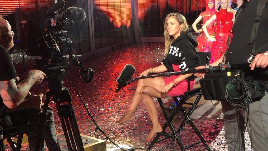 "Marina Hoermanseder am ""Germany's next Topmodel""-Set"