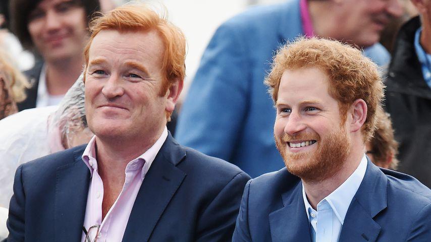 Mark Dyer und Prinz Harry bei einem Event in London im Juni 2016