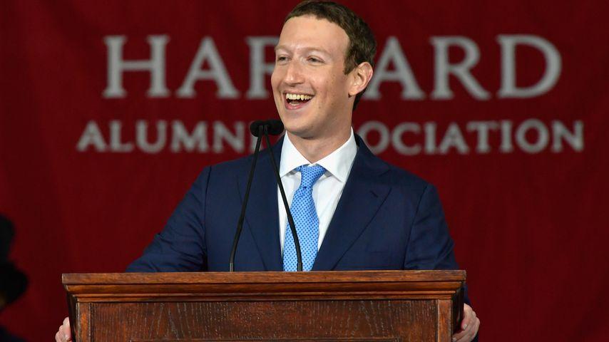 Mark Zuckerberg bei seiner Rede in Harvard