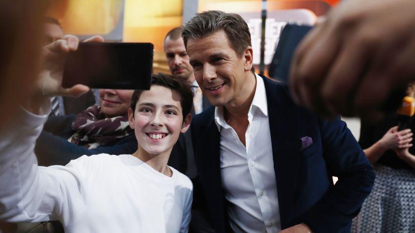 Markus Lanz mit einem glücklichen Fan