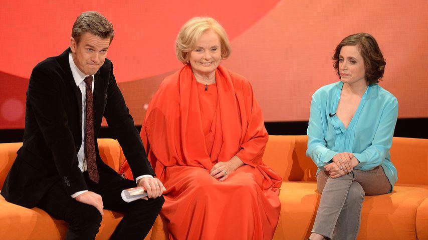 """Markus Lanz, Ruth Maria Kubitschek and Anna Thalbach bei """"Menschen 2013"""""""