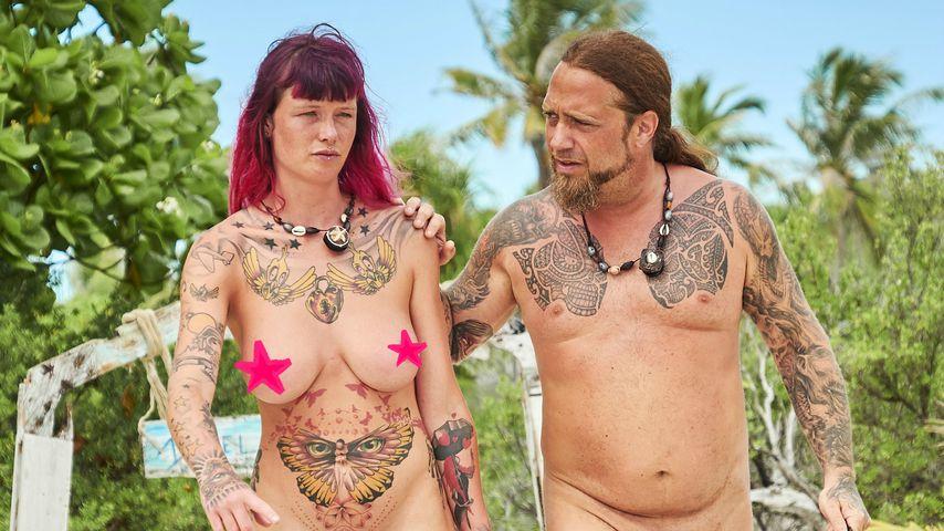 "Elisa und Martin Kesici bei ""Adam sucht Eva - Promis im Paradies"""