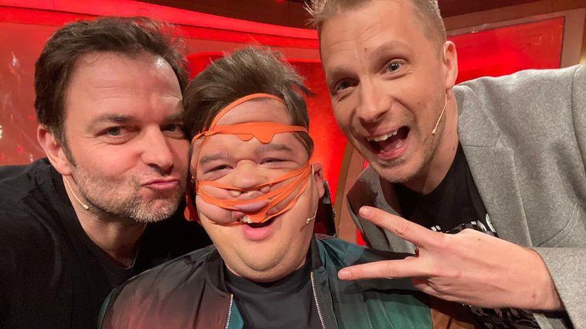 Martin Rütter, Chris Tall und Oliver Pocher in Chris Talls Show im Februar 2020