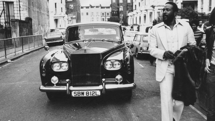 Soul-Sänger Marvin Gaye im Jahr 1976 in London