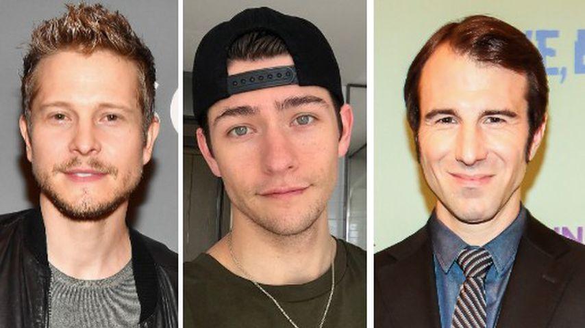 Collage: Die Schauspieler Matt Czuchry, Barton Cowperthwaite und Alex Hurt