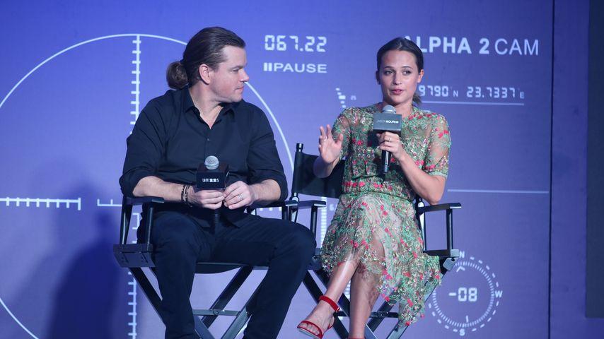 """Matt Damon und Alicia Vikander bei der """"Jason Bourne 5""""-Premiere in Beijing"""