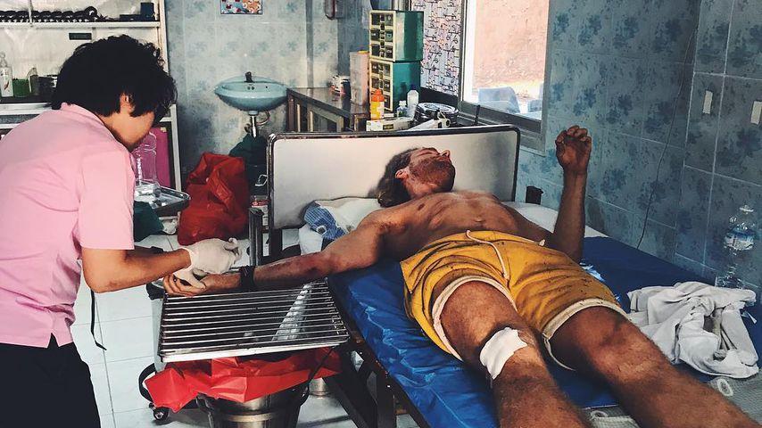 Matt Stoffers  in einem thailändischen Krankenhaus