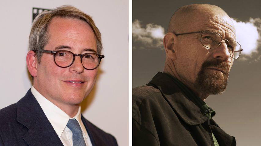 """Collage: Matthew Broderick und Bryan Cranston alias Walter White (""""Breaking Bad"""")"""