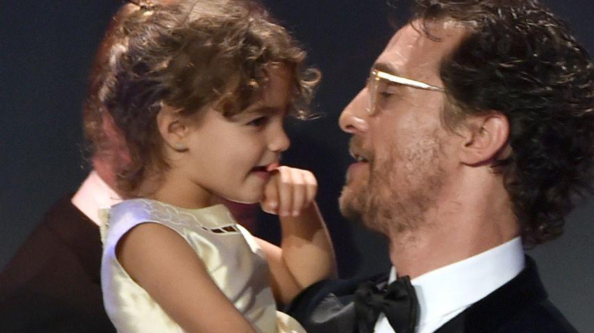 Süß! Tochter stiehlt Matthew McConaughey die Show
