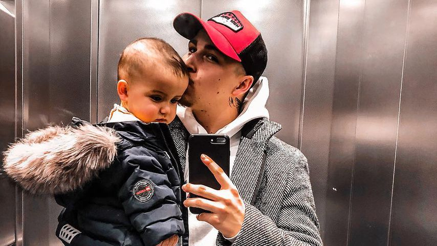 Matthias Höhn mit seinem Sohn Milan, März 2019