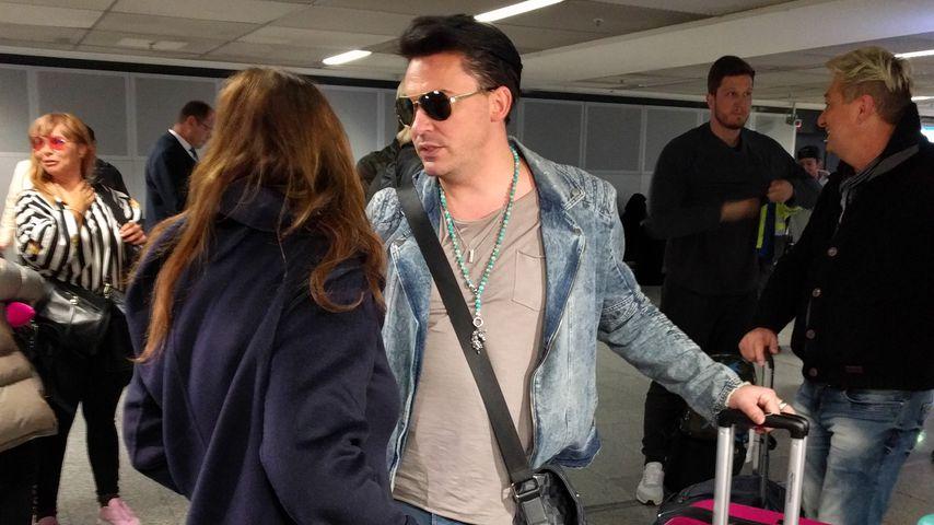 Matthias Mangiapane am Flughafen in Frankfurt am Main