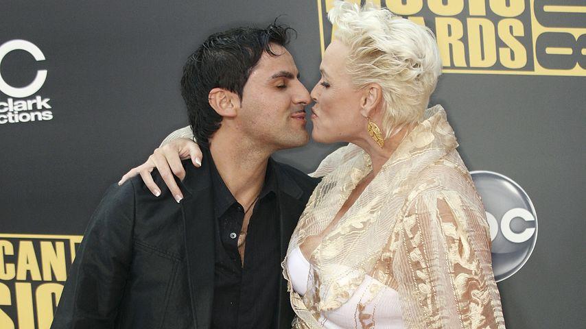 Mattia Dessi und Brigitte Nielsen bei den American Music Awards 2008