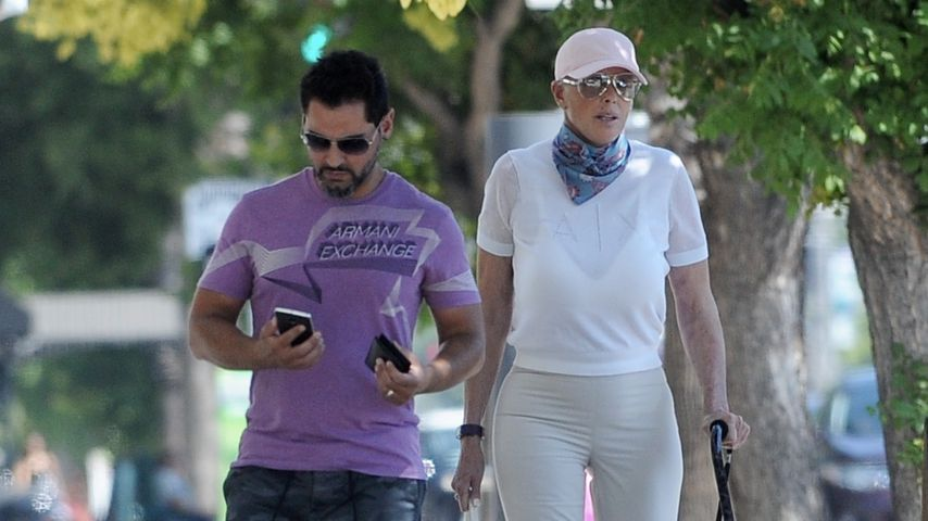 Mattia Dessi und Brigitte Nielsen in Los Angeles