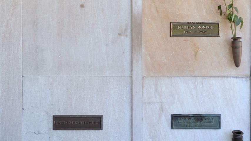Mausoleum mit den letzten Ruhestätten von Marilyn Monroe und Hugh Hefner