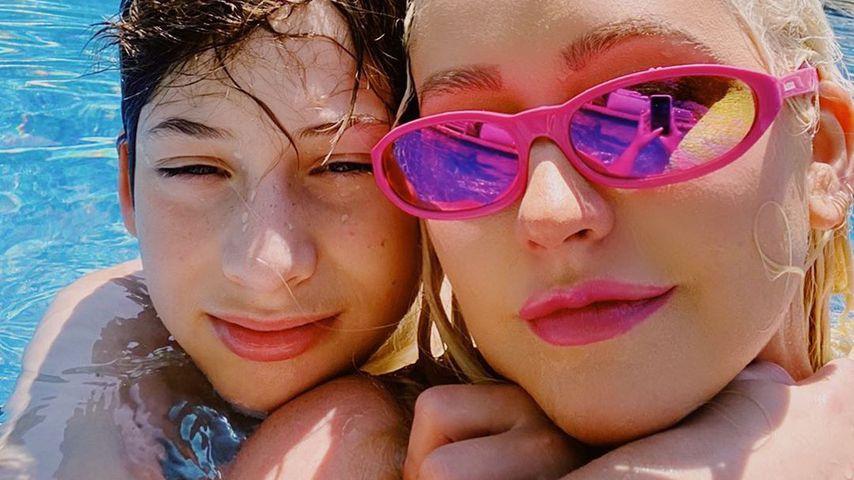 Max Bratman und Christina Aguilera im Juni 2020