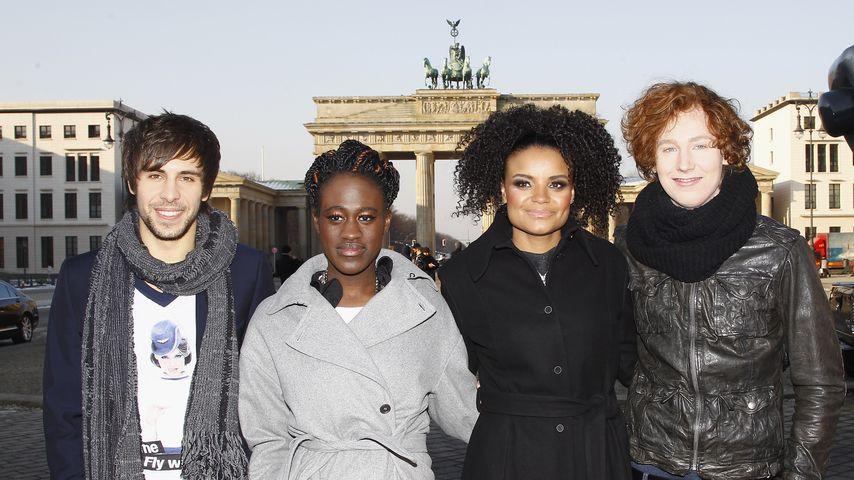 Max Giesinger, Ivy Quainoo, Kim Sanders und Michael Schulte in Berlin 2012