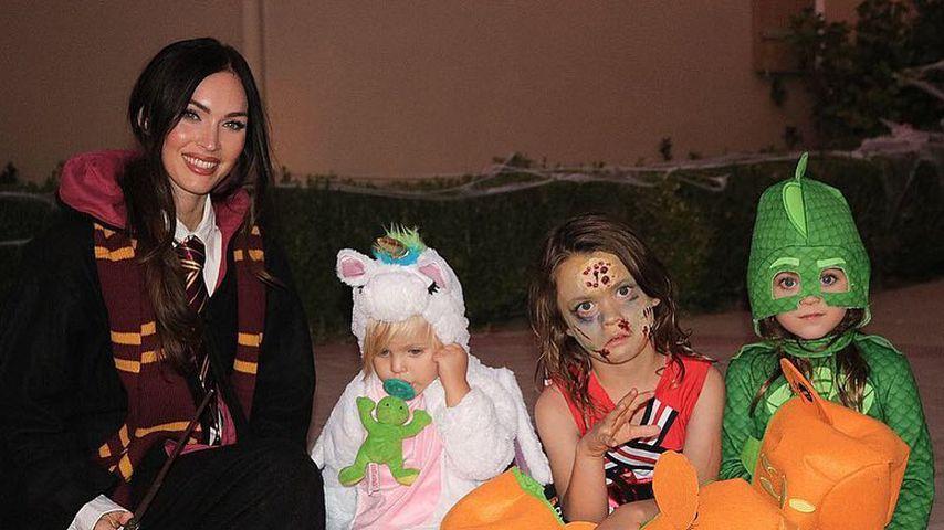 Ziemlich seltener Einblick: Megan Fox zeigt ihre drei Kids!