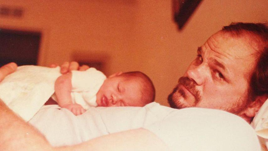 Meghan Markle als Baby mit ihrem Vater Thomas Markle
