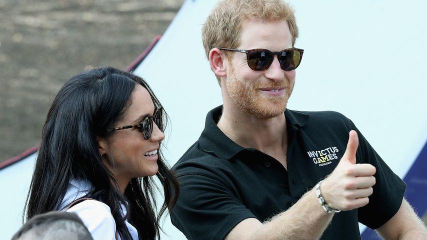 Meghan Markle und Prinz Harry bei einem Rollstuhl-Tennismatch