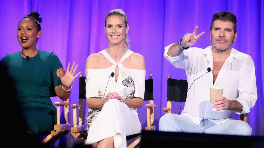 "Mel B., Heidi Klum und Simon Cowell bei ""America's Got Talent"""